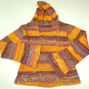 Jaylie hippie clothing co. Hooded bohemian top